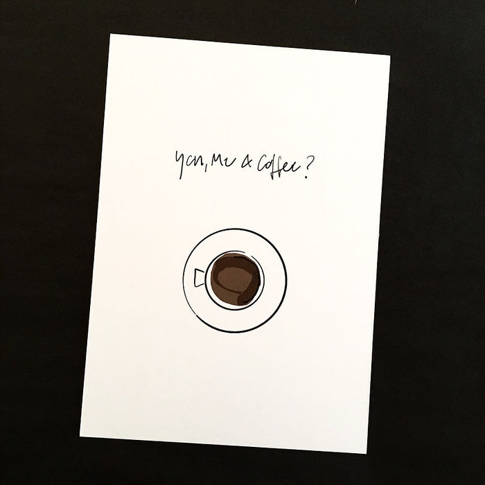 You and Me Edition Postkarte: Coffee