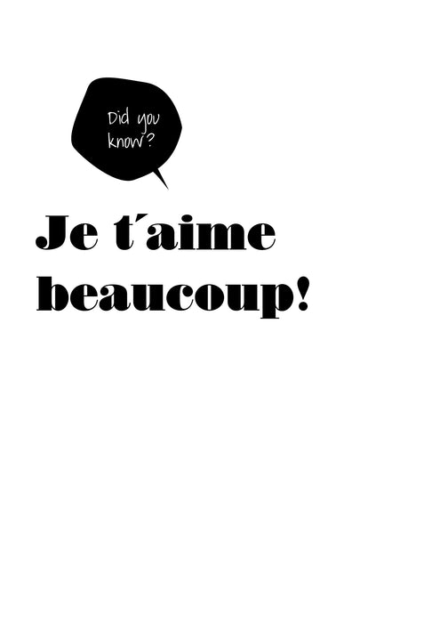 Love Edition Poster: Je t'aime beaucoup