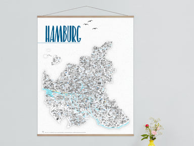 ArtPrint Hamburg ohne Leiste (Rapü Design)