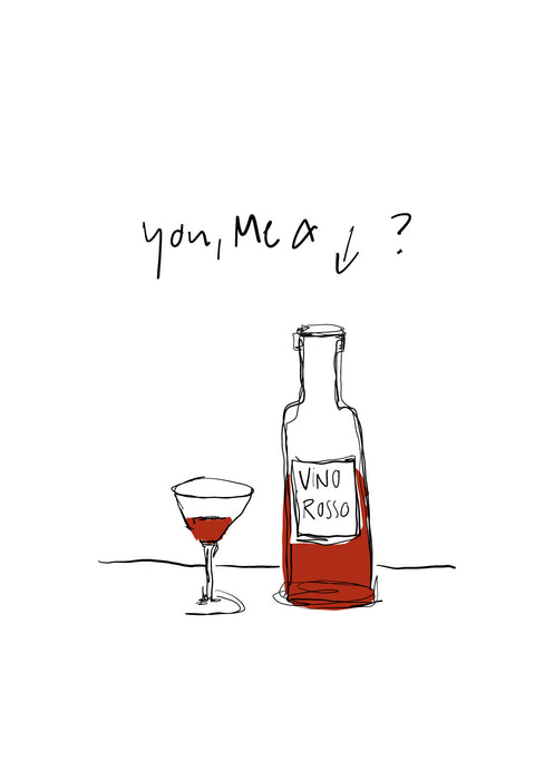 You and Me Edition Postkarte: Vino Rosso