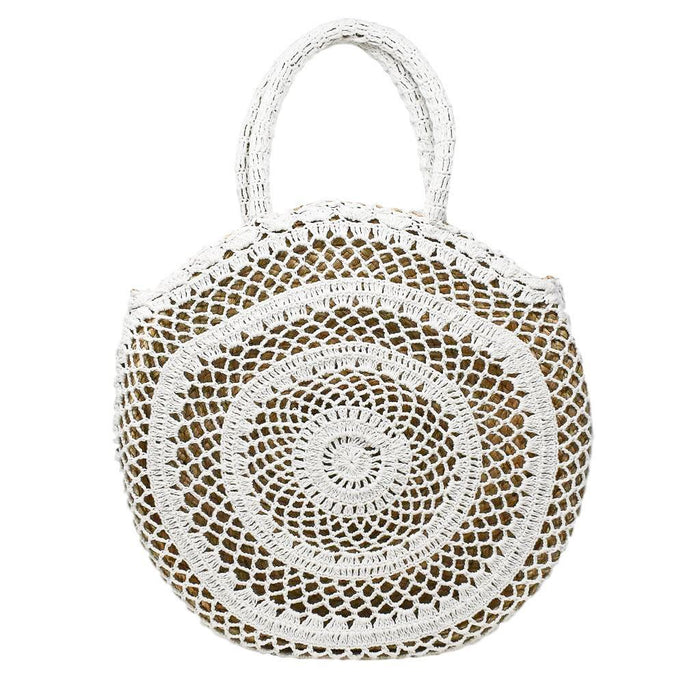 ELIZA TOTE {White Crochet Wrapped}