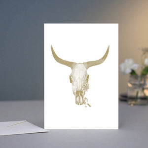 Greeting Card - Cow Skull