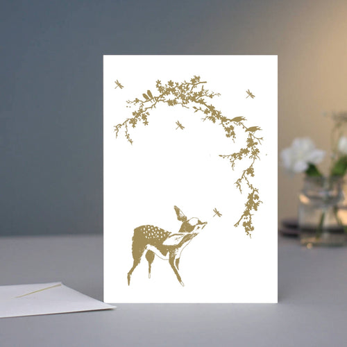 Greeting Card - Fowl With The Golden Leaves