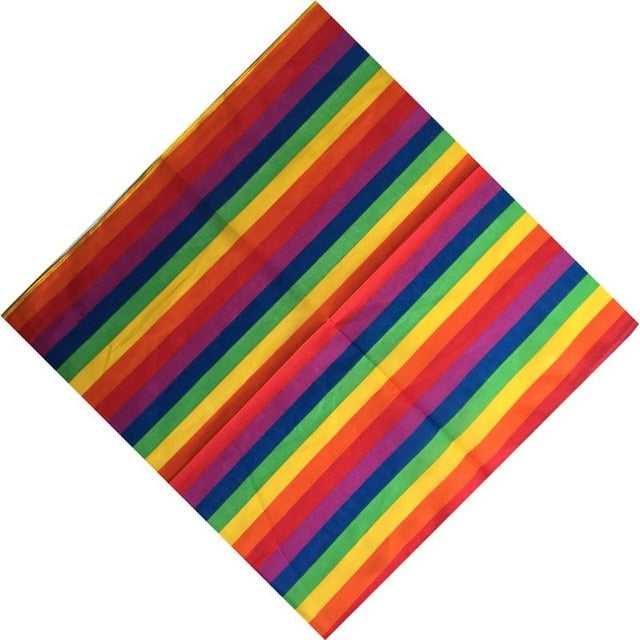 Rainbow Color Multi-Use Bandanas/Headband/Head Scarf (Version 2) - Peaceful Pride
