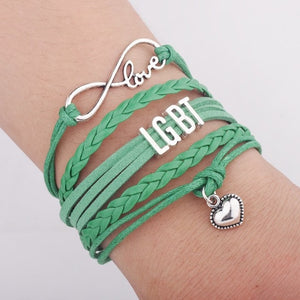 LGBT Rainbow Pride Wrap Bracelet - Peaceful Pride
