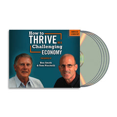 RON SMITH TOM PISCITELLI HOW TO THRIVE IN A CHALLENGING ECONOMY: 4 CD SET