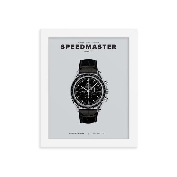 A HISTORY OF TIME: SPEEDMASTER (FRAMED)