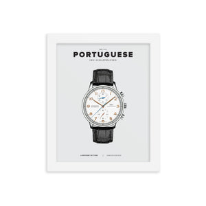 A HISTORY OF TIME: PORTUGUESE (FRAMED)