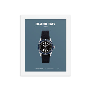 HISTORY OF TIME: BLACK BAY (FRAMED)