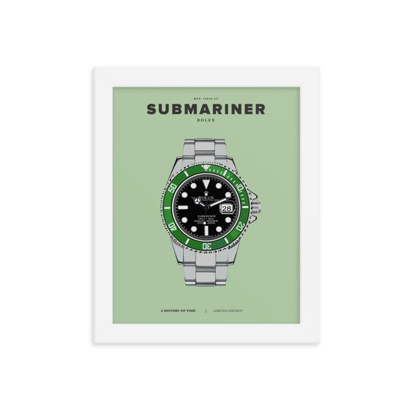 HISTORY OF TIME: SUBMARINER (FRAMED)