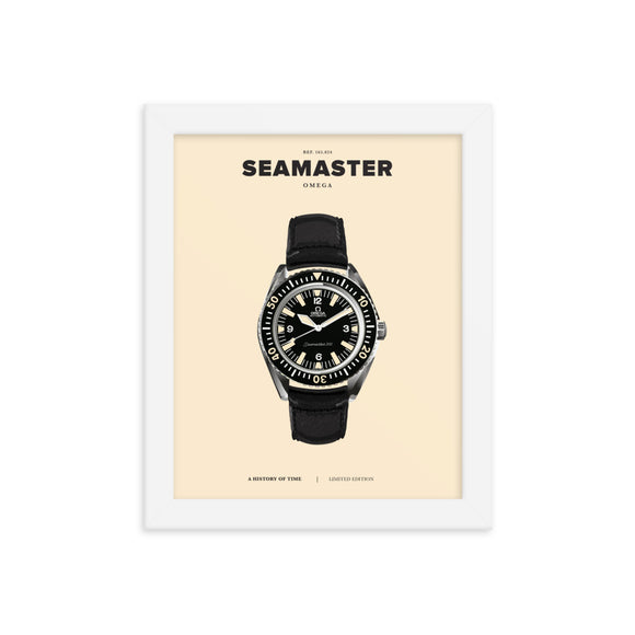HISTORY OF TIME: SEAMASTER (FRAMED)