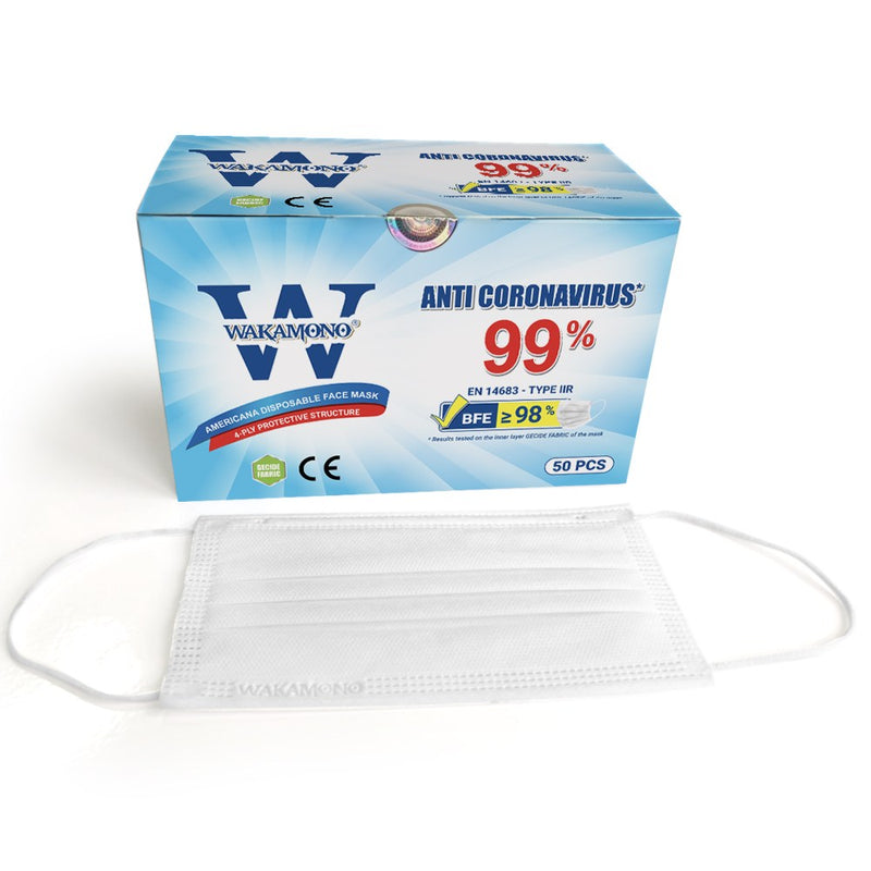 Antiviral Surgical Mask, Type IIR, 4-Layer
