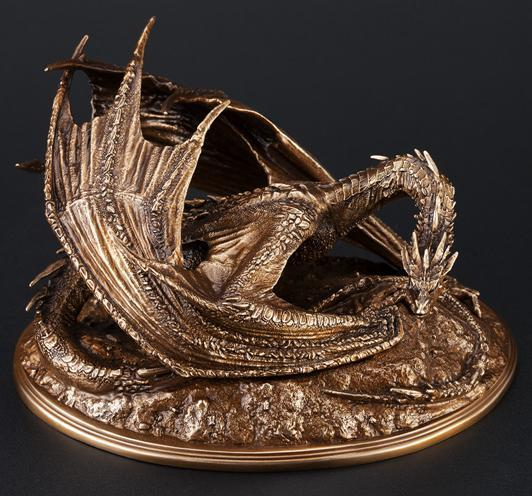 Hobbit Smaug Dragon Sculpture NZ Bound