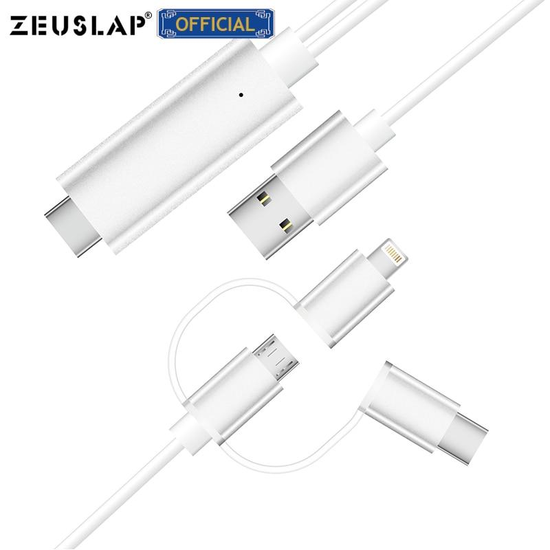 Micro USB TYPE C Lightning to HDMI Cable NZ Bound