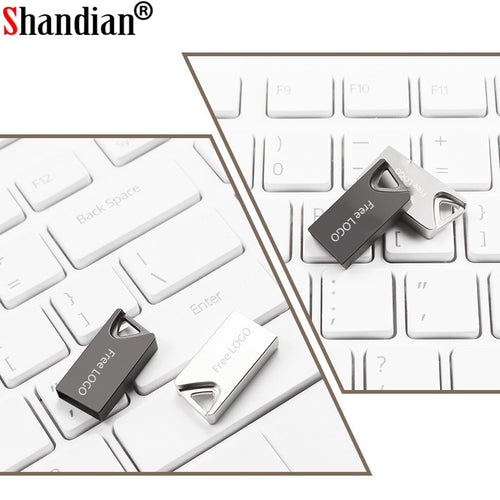 USB Mini 2.0 - 64GB - 32GB Flash Memory Stick with key ring