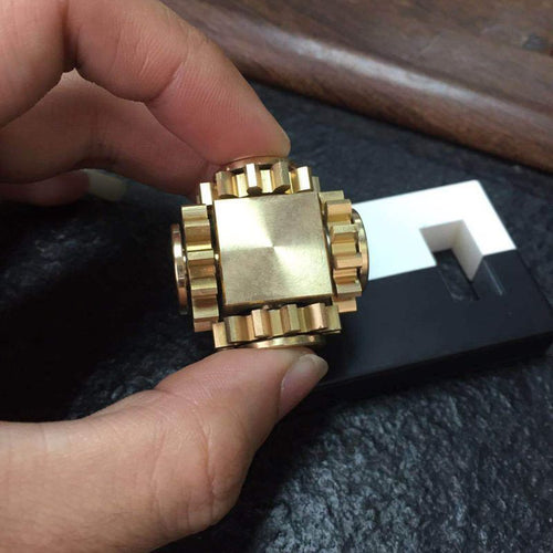 Fidget Cube - Brass Linkage Spinner