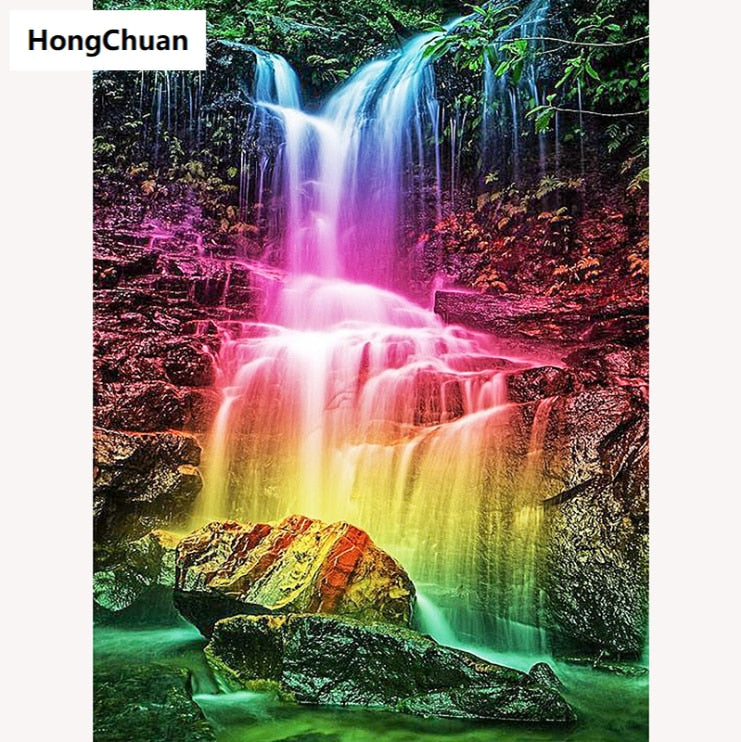 Waterfall - 5D Diamond Painting Set