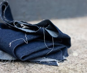Heavy Washed Denim - deep dark indigo