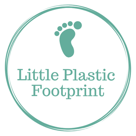 Little green footprint above eco freidnly store name, Little Plastic Footprint