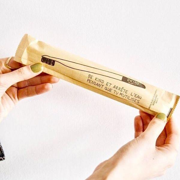 Biodegradable Bamboo Toothbrush - Bkind - LittlePlasticFootprint
