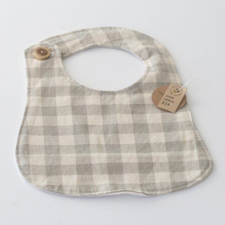 100% Cotton Baby Bib - Lil Green Acorn Apparel - LittlePlasticFootprint