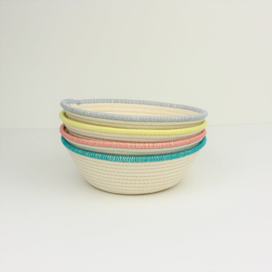 Coloured Rope Bowl Set - Crafting the Harvest - LittlePlasticFootprint