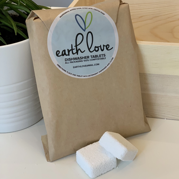 Dishwasher Tablets (Zero Waste Packaging) - Earth Love - LittlePlasticFootprint