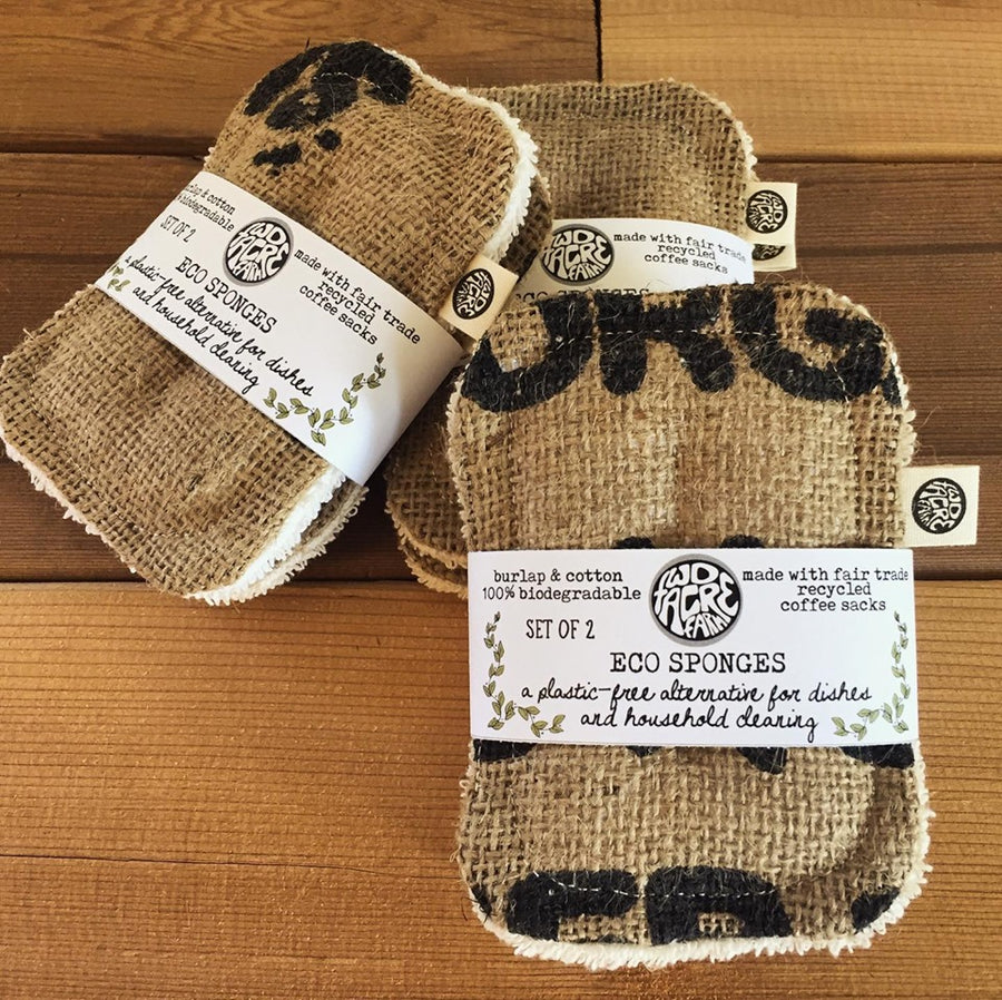 Burlap & Cotton 100% Compostable Unsponge - Two Acre Farm - LittlePlasticFootprint
