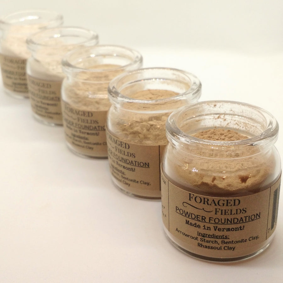 Natural Plant Based Powder Foundation - Foraged Fields - LittlePlasticFootprint