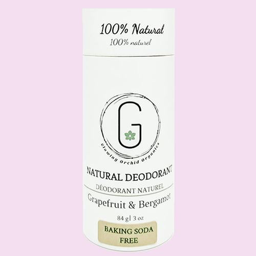 Natural Deodorant (Baking Soda Free) - Glowing Orchid Organics - LittlePlasticFootprint