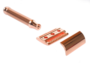 Rose Gold Safety Razor - Lisse Shave - LittlePlasticFootprint