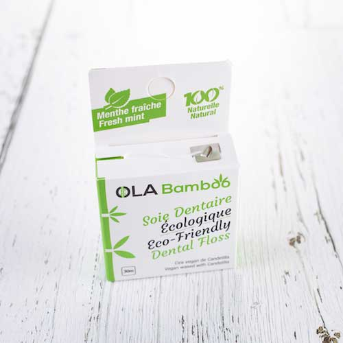 Eco Friendly Dental Floss - OLA Bamboo - LittlePlasticFootprint