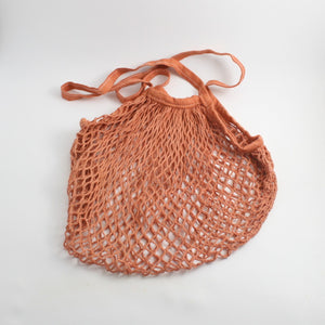 Hand Dyed Crotchet Net Bag (Solid)- OOWLSTUDIO - LittlePlasticFootprint
