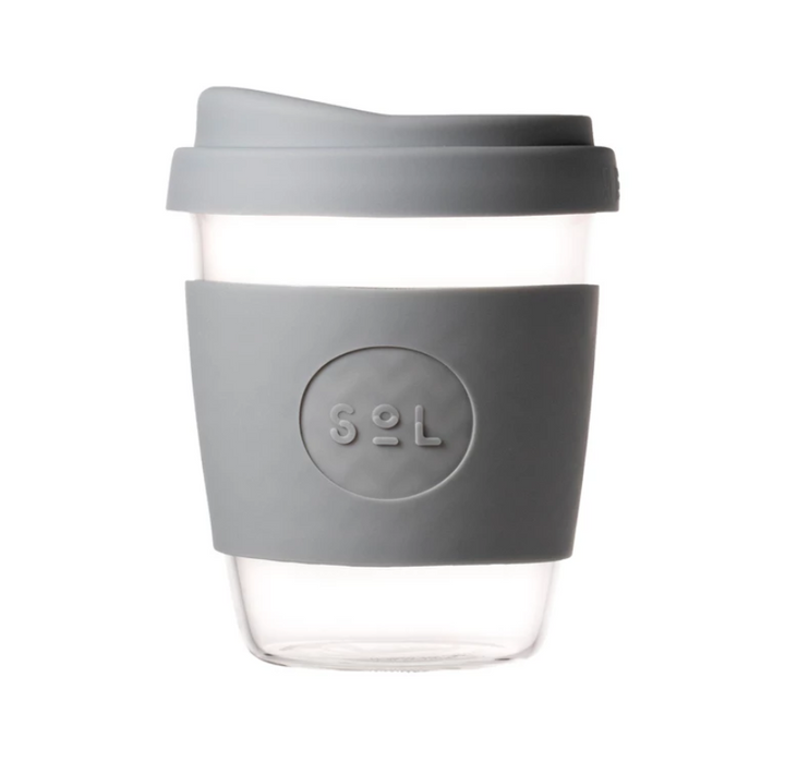 12oz Glass Coffee Cup - One Less - LittlePlasticFootprint