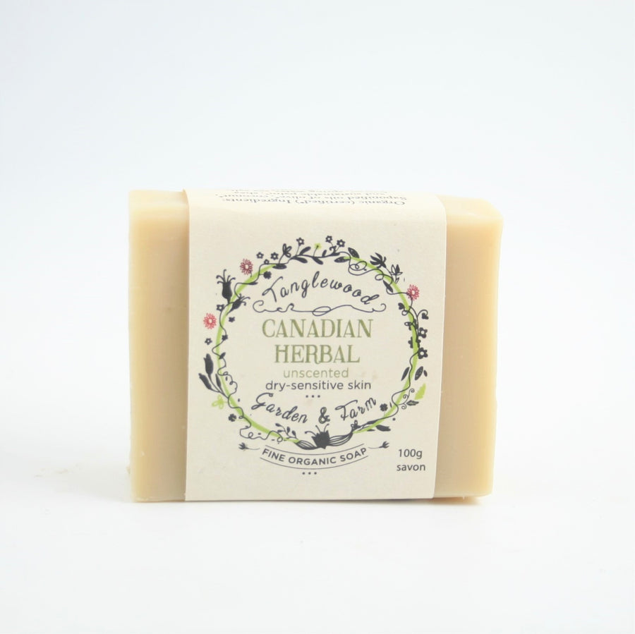 Canadian Herbal Unscented Soap - Tanglewood Garden & Farm - LittlePlasticFootprint
