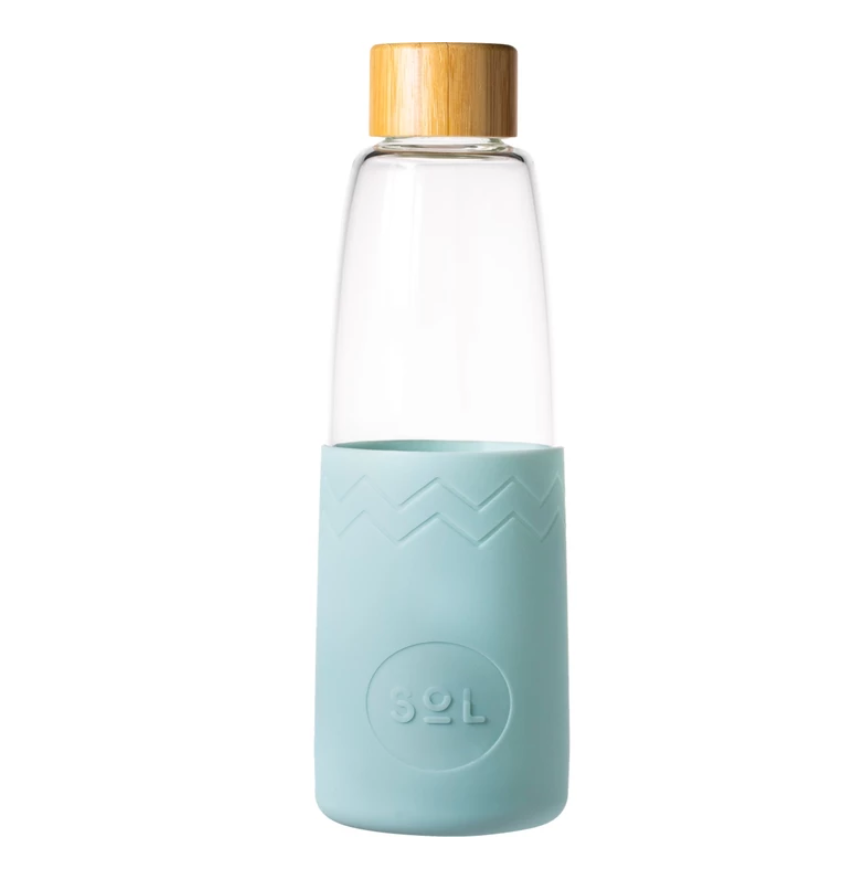 Glass Water Bottle - One Less - LittlePlasticFootprint