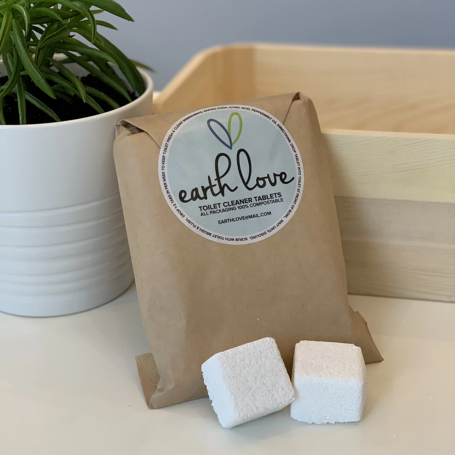 Toilet Cleaning Tablets (Zero Waste Packaging) - Earth Love - LittlePlasticFootprint