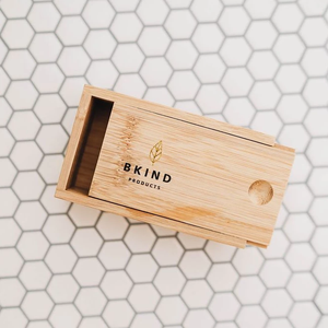 Bamboo Case for Shampoo and Conditioner Bars - Bkind - LittlePlasticFootprint
