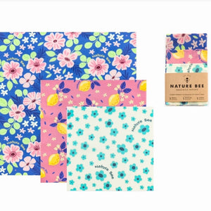Beeswax Wrap (Multi Pack) - Nature Bee - LittlePlasticFootprint
