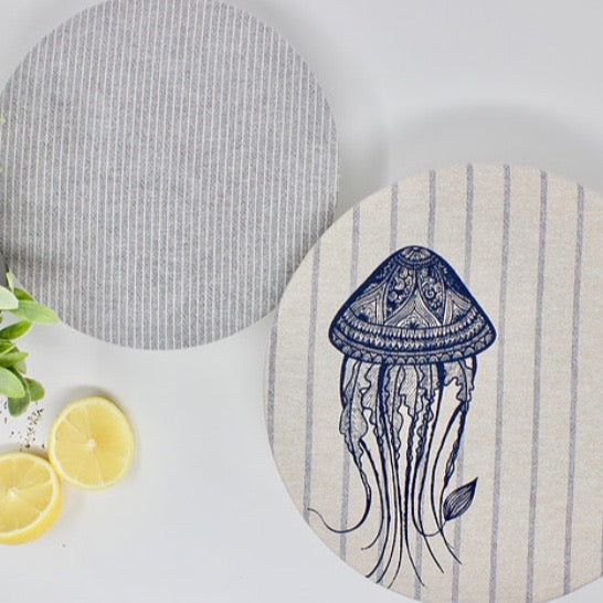 Set of 2 Jelly Fish Design (L & M) - Your Green Kitchen - LittlePlasticFootprint