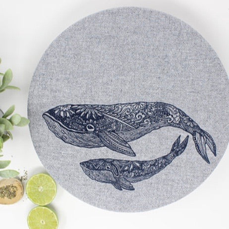 Set of 2 Whale Design (XL & L) - Your Green Kitchen - LittlePlasticFootprint