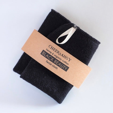 Black Hemp Beauty Cloth - Cheeks Ahoy - LittlePlasticFootprint