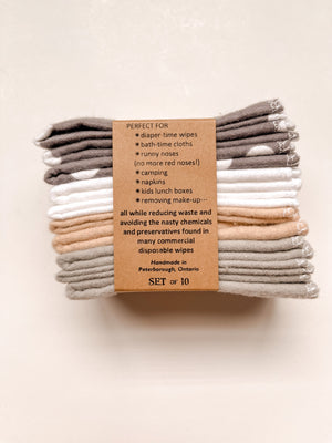 100% Cotton Cloth Wipes - Cheeks Ahoy - LittlePlasticFootprint