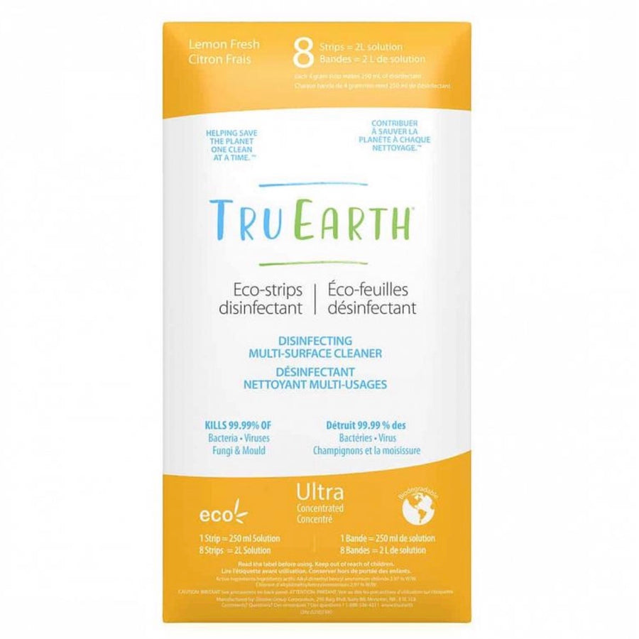 Eco-Strips Disinfecting Multi- Surface Cleaner (8 pack)- Tru Earth - LittlePlasticFootprint
