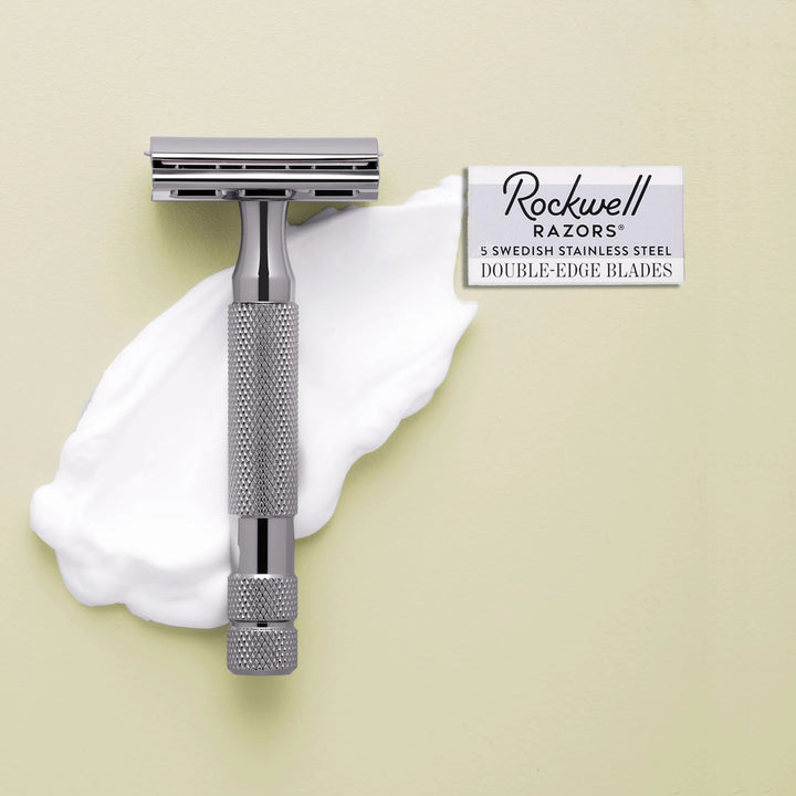 Safety Razor 6C with blades - Rockwell Razors - LittlePlasticFootprint