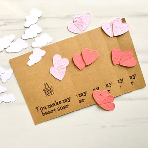 DIY Valentine Cards (pack of 6)- Eco Party Boutique - LittlePlasticFootprint