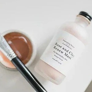 Rose & Clay Renew Mask - Essentials by Nature - LittlePlasticFootprint