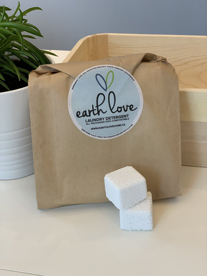 Laundry Tablets (Zero Waste Packaging) - Earth Love - LittlePlasticFootprint