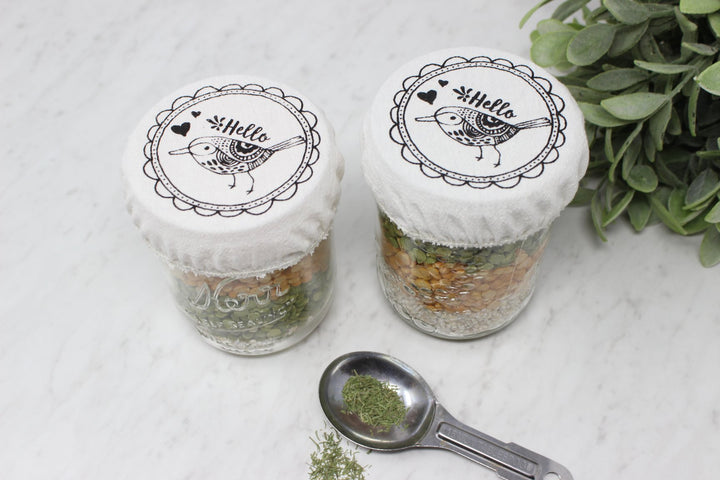 Mason Jar Covers Set of 2- Your Green Kitchen - LittlePlasticFootprint