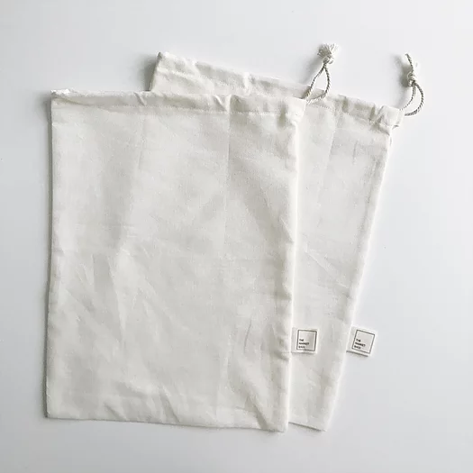 Set of 2 Large Organic Cotton and Hemp Bulk Bag - The Market Bags - LittlePlasticFootprint